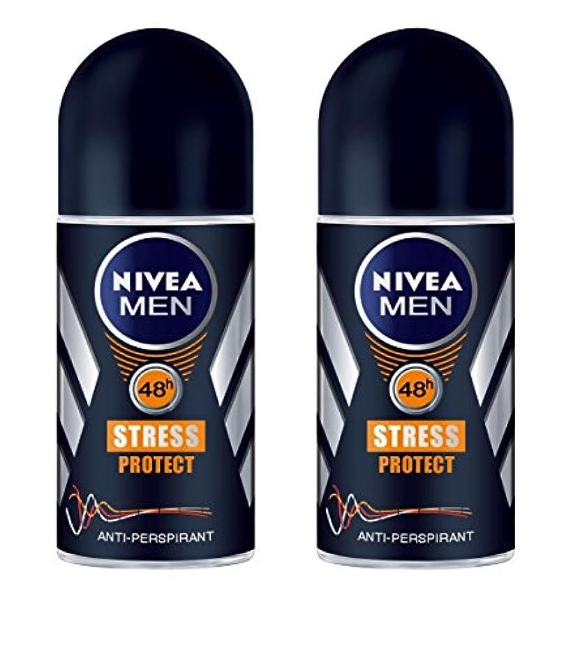 評価簡潔なレモン(Pack of 2) Nivea Stress Protect Anti-perspirant Deodorant Roll On for Men 2x50ml - (2パック) ニベア応力プロテクト制汗剤デオドラントロールオン...