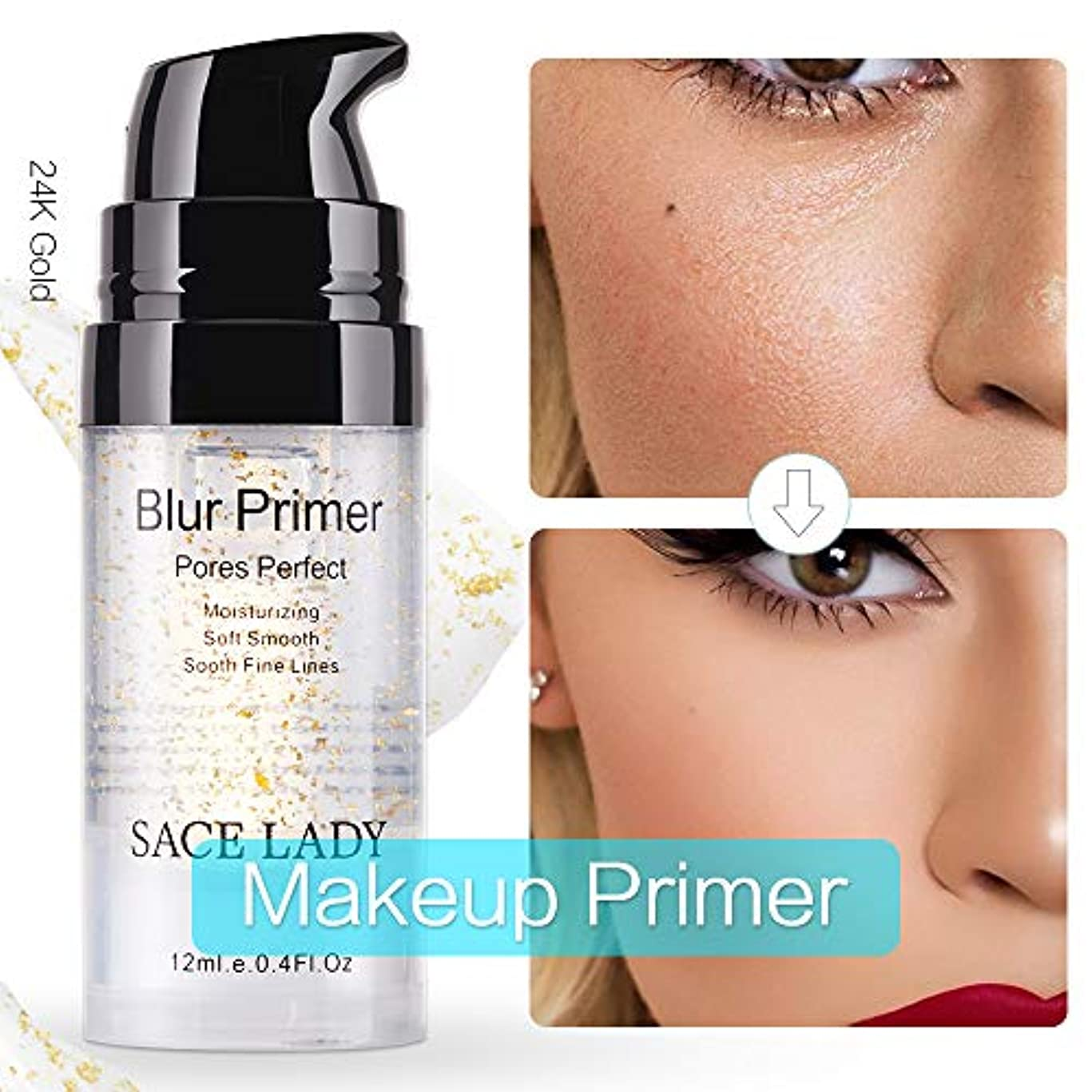 SACE LADY Perfect Pores Primer Long Lasting Makeup Natural Foundation Primer Soft Skin(12ml/0.4oz)