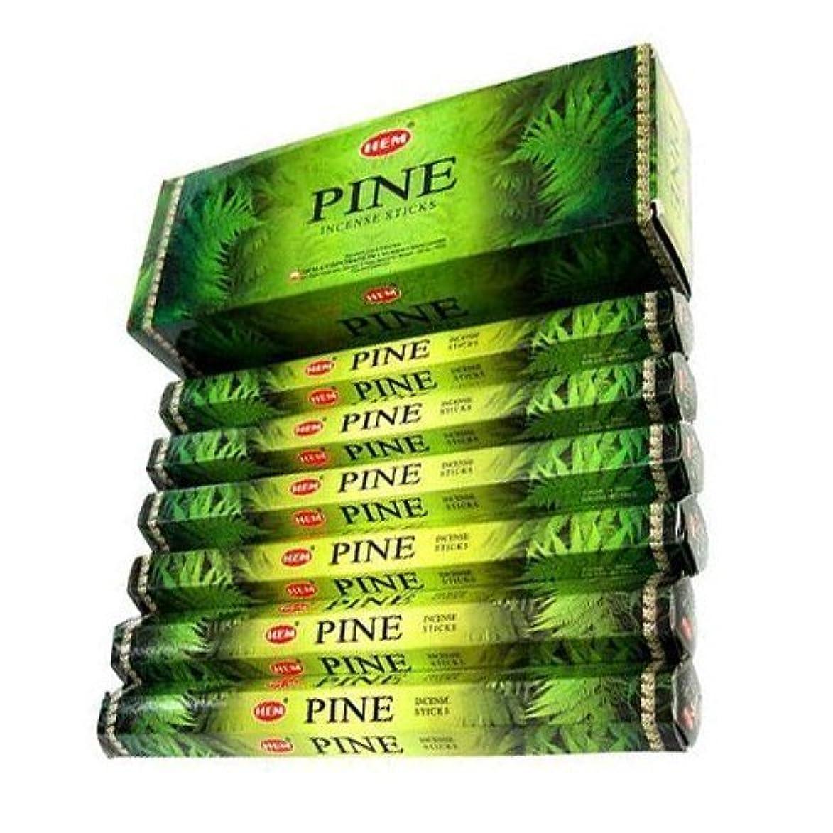 減衰パイル声を出してHEM(ヘム)社 パイン香 スティック PINE 6箱セット