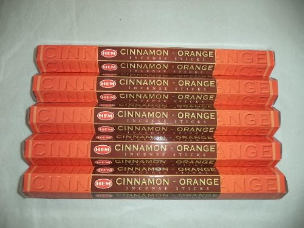 ソブリケットかすかな浮くHemシナモンオレンジ100 Incense Sticks (5 x 20スティックパック)