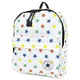 [コンバース] CONVERSE キッズ リュック 男の子 女の子 子供 リュックサック 通学 通園 遠足 A4 軽量 スター 星柄 ALL STAR オールスター 177975 White
