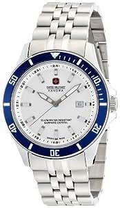 [スイスミリタリー]SWISS MILITARY 腕時計 【Amazon.co.jp/Javari.jp限定】 フラッグシップ ML-322 ブルーベゼル メンズ 【正規輸入品】