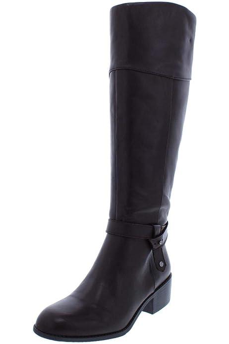 Tommy Hilfiger Womens Merritt Almond Toe Knee High Size 10.0 US // Black Multi