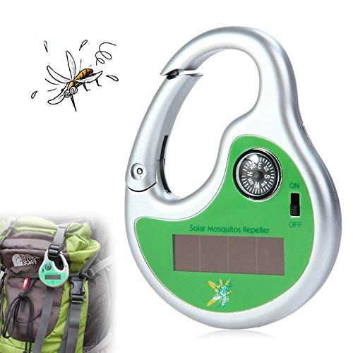TRIVALGOGO 携帯 蚊取り器 超音波害虫駆除 夜釣り駆除器 屋外蚊ランプ アウトドア 太陽光発電 無毒 害虫対策用品 ハエ、蚊撃退