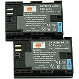 DSTE® アクセサリ Canon LP-E6 LP-E6N 互換 カメラ バッテリー 2個 対応機種 5D 7D Mark II III 5DS 5DS R 6D 60D 60Da 70D