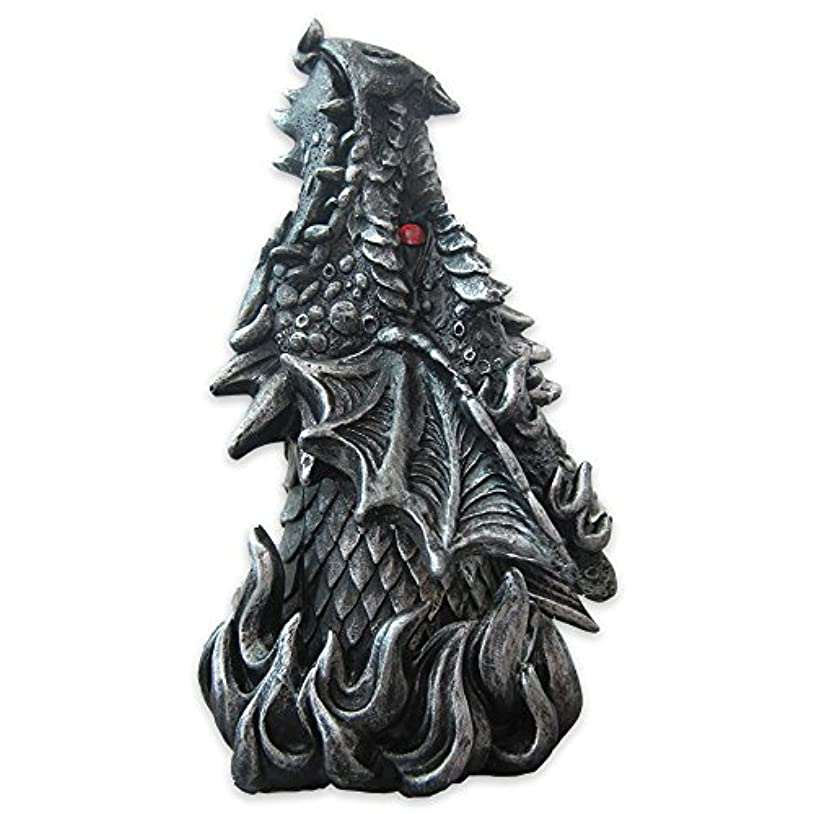 豊富なゲージフェードDragon Figure Cone Incense Burner Fiery Eyes - Gothic Smoke Breathing Decor