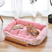 ペットソファー ペットクッション ペット寝床 クッション付き 4件セット 四季通用 超耐噛み 爪とぎ 小型犬~大型犬兼用 小動物 猫 ソフト ふわふわ ぐっすり 丁度いい厚さ お手入れ簡単 無毒 花柄 XL