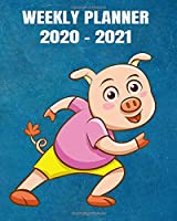 2020-2021 Weekly Planner: 2 Year Weekly & Monthly View Organizer & Agenda with To-Do's - Comic Design