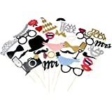 BESTOYARD Wedding Photo Booth Props for Wedding Bridal Shower Valentines Party Decoration 31pcs [並行輸入品]