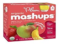 Plum Kids Organic Fruit Mashups Squeezeable Fruit, Strawberry- Banana 3.17 oz (360 g)(pack of 2) by Plum Kids [並行輸入品]