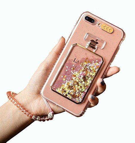 fd41ced33a todayhappys ブランド iphone6s plus ケース iphone6 plus カバー 透明 ソフト シリコン TPU  香水キラキラ泳ぐ アイフォン