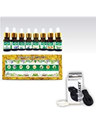 Aromatherapy Essential Oils - Gift set (Pack of 8) 100% Pure & Natural Plus Aromakey USB Personal Diffuser, Humidifier...