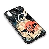 IPhone X/XS携帯電話シェルリングブラケット人気 スマホケース TPUバンパ 滑り防止 黄変防止 すり傷防止 超軽量高耐久アイフォンX/XS スマホケース 男女兼用