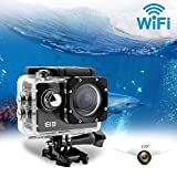 uvistar ELE ウェアラブルカメラ 30メートル防水 170度広角レンズ WIFI搭載 超高画質16MP 4K 1080P (ブラック)