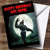 Werewolf Personalized Birthday Greetingsカード