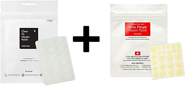 COSRX Acne Pimple Master Patch 1EA + Clear Fit Master Patch 1EA/COSRX アクネ ピンプル マスター パッチ 1枚 + クリア フィット マスター パッチ 1枚 [並行輸入品]