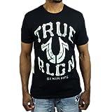 トゥルーレリジョン Tシャツ TRUE RELIGION 半袖 ブラック 黒 ロゴ●ts-a30 (Lサイズ) [並行輸入品]
