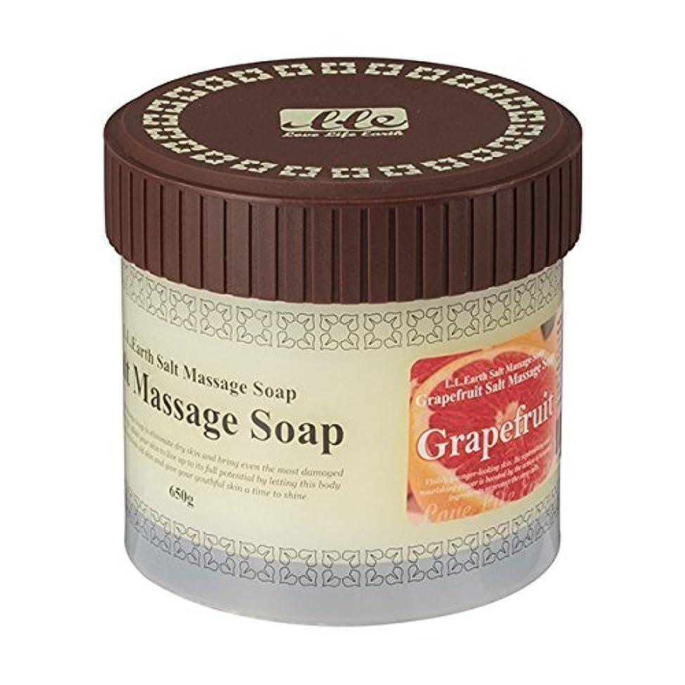 ラップ虹あざLLE 業務用 ソルトマッサージソープ 650g [選べる香り5種類] ( ボディ用 スクラブ ) グレープフルーツ