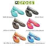 【クロックスジャパン正規品】 クロックス (crocs) アドリナ3 フラット ウィメン ・EleB/UV ・W7(23cm)