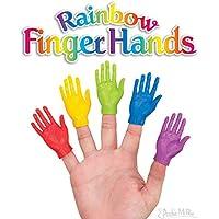 【Rainbow Finger Hands 5色Set】ドッキリにも使える?指から生える手のおもちゃ!フィンガーハンドセット/仮装/コスプレ/パーティ/ハロウィンなどにおすすめ? レインボーフィンガーフィートハンド 5個セット売り