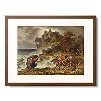 ジョセフ・アントン・コッホ Joseph Anton Koch 「Macbeth and the Three Witches. 1829/30」 額装アート作品