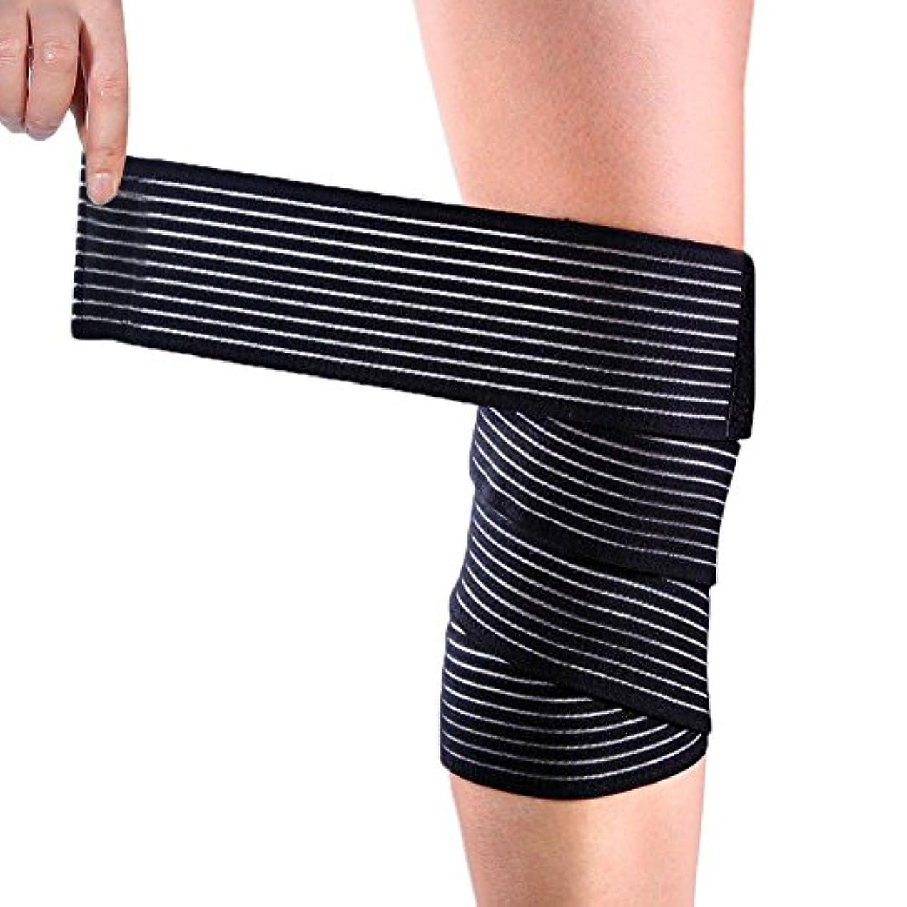 膝包帯ラップ、圧迫足ブレースサポート