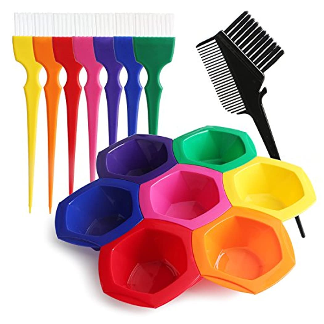 Segbeauty DIY/プロの髪染めのセット ヘアカラー用工具 彩色なボウルとブラシのセット 彩色な髪 美髪用