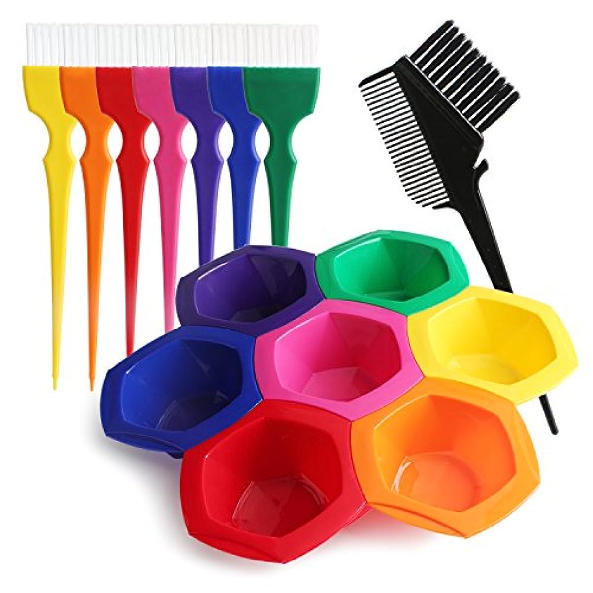 デンマークスプーンお勧めSegbeauty DIY/プロの髪染めのセット ヘアカラー用工具 彩色なボウルとブラシのセット 彩色な髪 美髪用