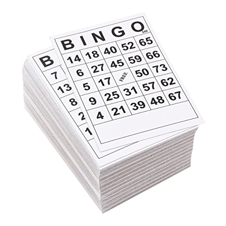 Juvale Bingoカード – 180-packファミリの夜使い捨てビンゴゲームカードゲームカード、紙、Charityイベント、パーティブラック、ホワイト、6.1 X 4.1 CM