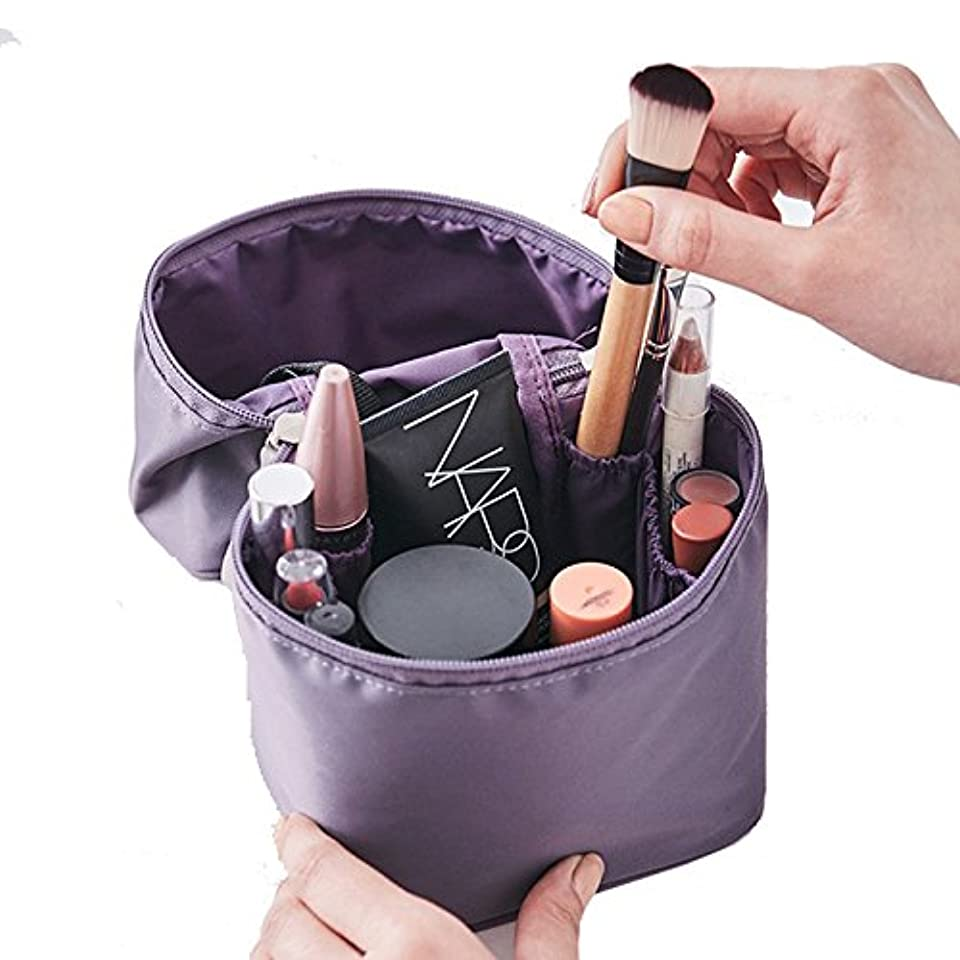 スクラップメンダシティなぞらえるithinkso VERTICAL MAKE-UP BOX 縦に収納できるボックスタイプ化粧ポーチ 化粧水 トラベル 旅行 (ラベンダー)