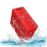 【自分撮り対応】LOBKIN Bluetooth スピーカー IPX6防水 スピーカ Bluetooth4.2バッジョ USB充電式 独創 (レッド)