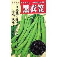 つるありいんげん 種 【 黒種衣笠 】 種子 小袋(約30ml)