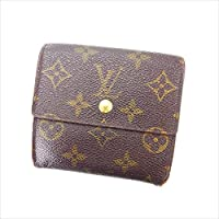 ルイヴィトン Louis Vuitton Wホック財布 三つ折り 男女兼用 ポルトモネビエカルトクレディ M61652 モノグラム 中古 Y4755