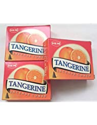 HEM(ヘム)お香 タンジェリン(オレンジ) コーン 3個セット