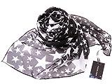 シルク 100% スカーフ 小さめ 【 SSサイズ 】 65×65cm バンダナ バッグ ネッカチーフ ポケット チーフ 首もと 暖か 選べる23色 ( スター ) 星 絹 UV 防寒 シフォン 天然素材 [Instyle Japan]