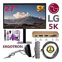 "LG 27MD5KA-B 27"" 5K Ultrafine 16:9 IPS Computer Monitor + Warranty + Ergotron 45-214-026 Mount + HDMI Cable + Accessory Bundle"