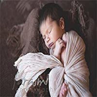 Prettyia ベビー ファブリック ブランケット おくるみ タオル 寝相アート 洗礼 出産祝い 写真用毛布 ソフト 10色選べ