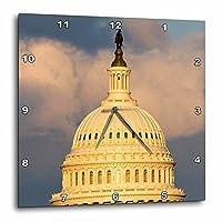 3dRose dpp_88988_1ワシントンDCの米国議会議事堂のドーム - US09 DFR0071 - David R. Frazier - ウォールクロック、10 x 10インチ