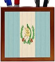 Rikki Knight Guatemala Flag on Distressed Wood Design 5-Inch Wooden Tile Pen Holder (RK-PH8720) [並行輸入品]