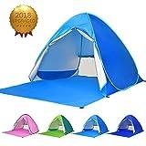 ワンタッチテント サンシェードテント 4色 BATTOP ポップアップビーチテント 2?3人用 95%UVカット 防水&通気 フルクローズ キャンプテント アウトドア コンパクト インスタントテント 収納バッグ付き  (ライトブルー)