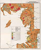 1941 Military Atlas | NWの地質学Map England and SWスコットランドCoasts ( Great Ormes Head to RinnsのGalloway。|アンティークヴィンテージマップ再印刷 24in x 29in 560295_2429