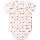 赤ちゃんの城 肩開きミニオール くまくま 80 ピンク ベビー 新生児 肌着 日本製 オールシーズン用