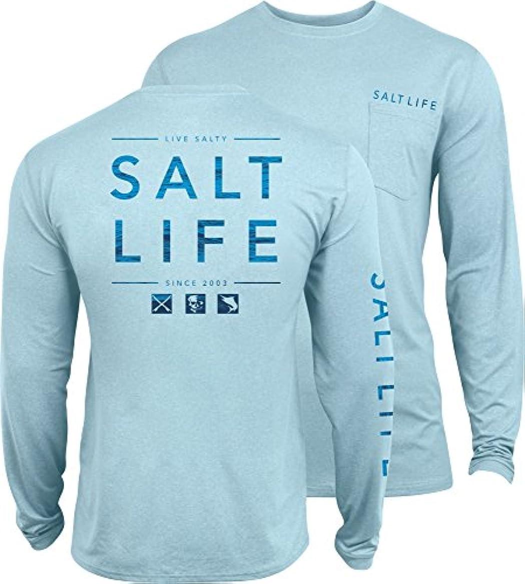 かもめグリース省略する[ソルトライフ] メンズ シャツ Salt Life Men's Water Icons SLX UVapor P [並行輸入品]