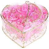 Kesoto 6個 石鹸の花 バラ 石鹸の花びら 母の日 ギフトボックス ロマンチック 全5タイプ選べる - ピンク