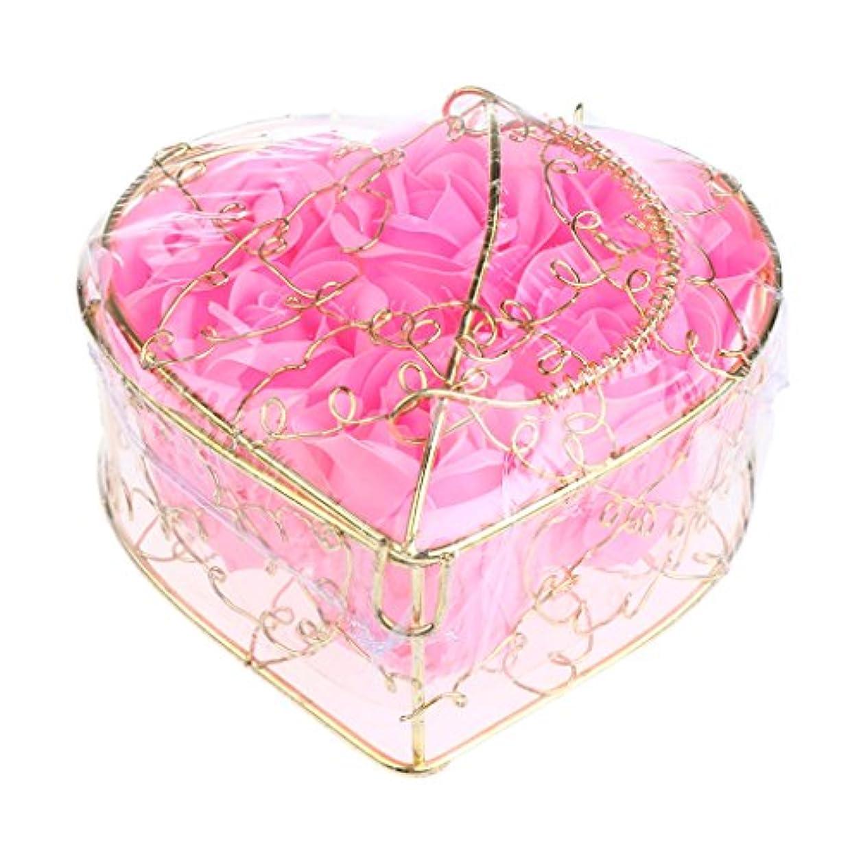接尾辞逸脱米ドルKesoto 6個 石鹸の花 バラ 石鹸の花びら 母の日 ギフトボックス ロマンチック 全5タイプ選べる - ピンク