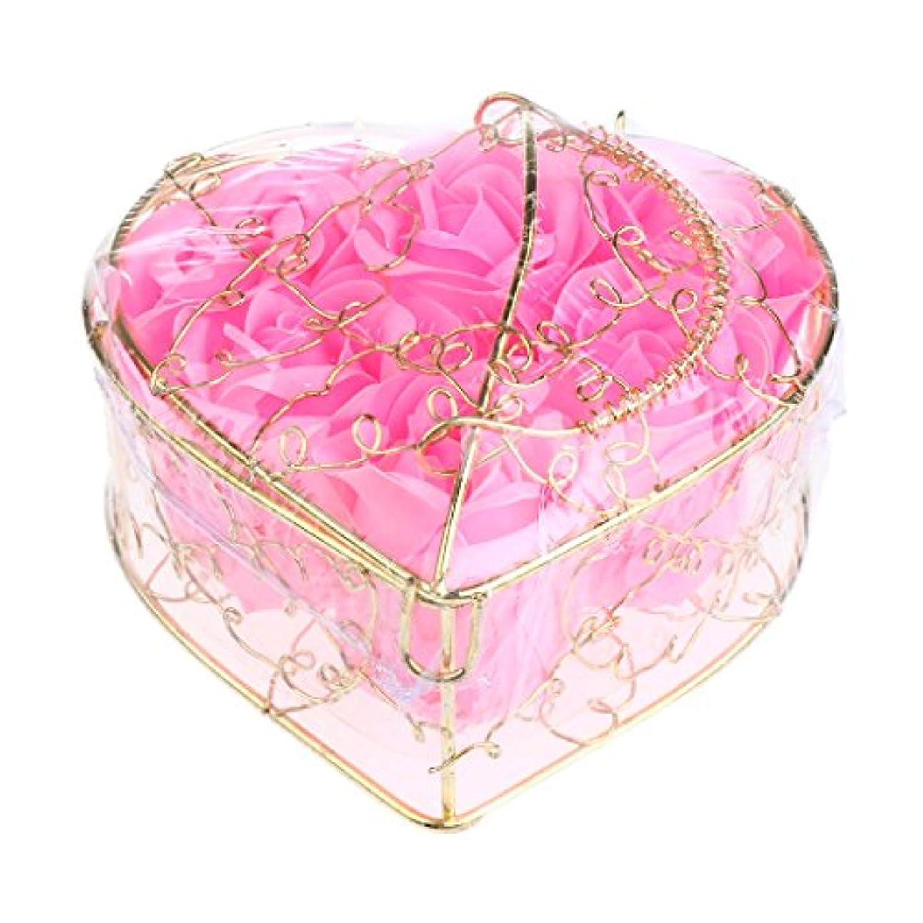子供達土地山岳Kesoto 6個 石鹸の花 バラ 石鹸の花びら 母の日 ギフトボックス ロマンチック 全5タイプ選べる - ピンク