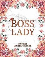 2020-2022 Monthly Planner: Pretty 3 Year Monthly Organizer with 36 Months Spread View Calendar   Motivational Three Year Monthly Agenda & Business Schedule Notebook
