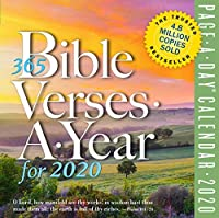 365 Bible Verses-A-Year Page-A-Day Calendar 2020【洋書】 [並行輸入品]