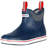 "XTRATUF Performance Series 6"" Men's Full Rubber Ankle Deck Boots, Navy & Red (22733)"