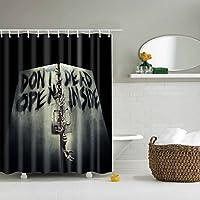 TXXM シャワーカーテンカットカーテンポリエステル素材防水とカビ厚いカーテンテロ印刷無料パンチング (サイズ さいず : 180 * 200cm)